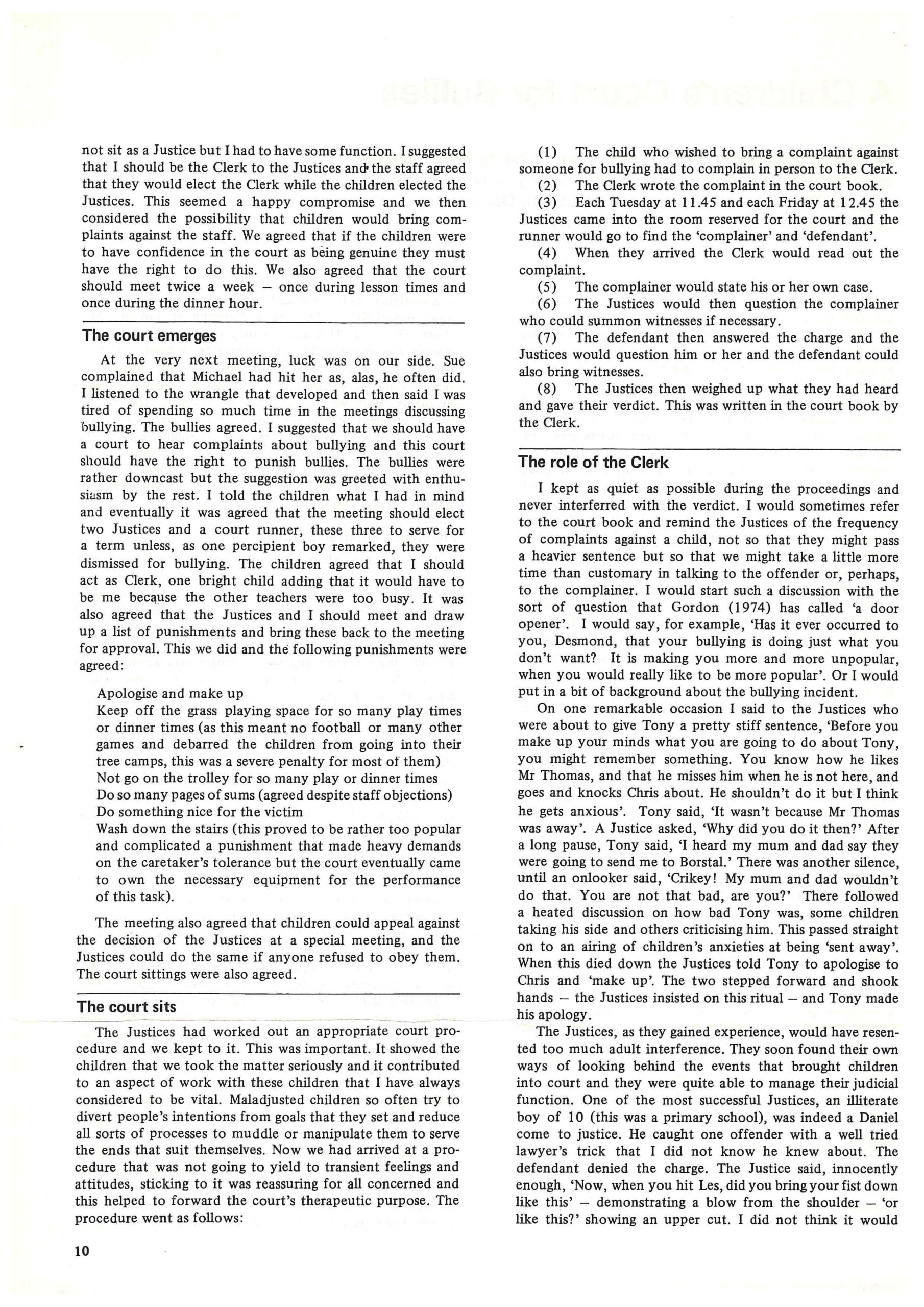 Special Education: Forward Trends, Vol 9, No.1 published in April 1982