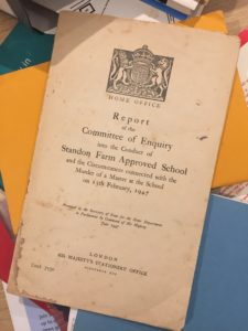 Report of the Committee of Enquiry into the conduct of Standon Farm Approved School